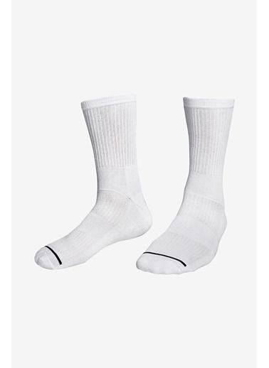 Lescon La-3157 Beyaz Tenis Çorap 40-45 Numara Beyaz